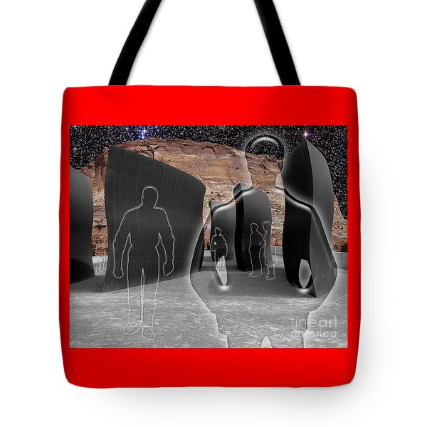 Monoliths For The Empty People Tote Bag by Keith Dillon