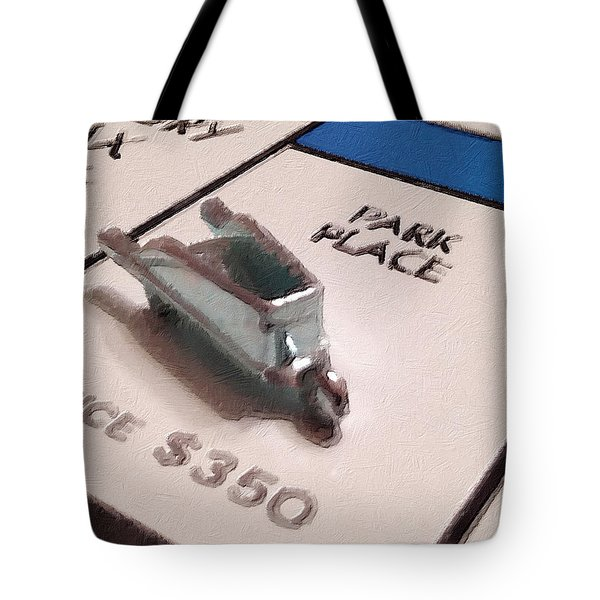 Monopoly Board Custom Painting Park Place Tote Bag