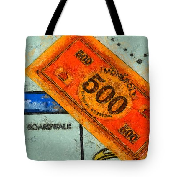 Monopoly Money Tote Bag by Dan Sproul