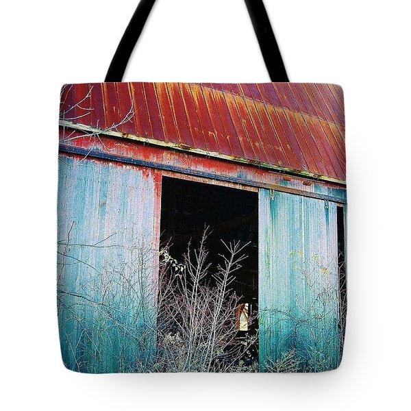 Tote Bag featuring the photograph Monroe Co. Michigan Barn by Daniel Thompson