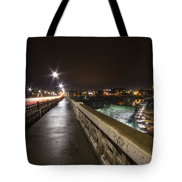 Monroe Street View - Spokane Tote Bag