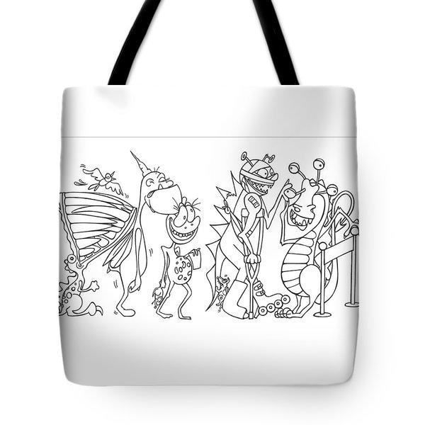 Monster  Queue Tote Bag