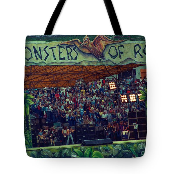 Monsters Of Rock Stage While A C D C Started Their Set - July 1979 Tote Bag