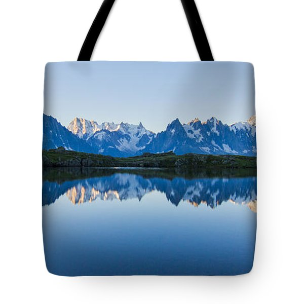 Mont Blanc Massif Panorama Tote Bag by Mircea Costina Photography