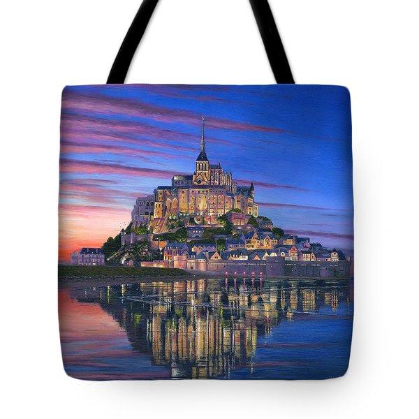 Mont Saint-michel Soir Tote Bag
