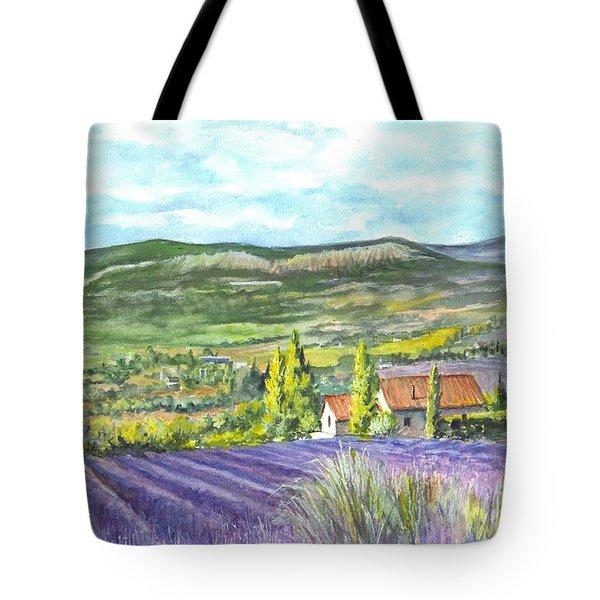 Montagne De Lure En Provence Tote Bag by Carol Wisniewski