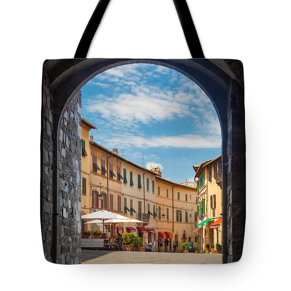 Montalcino Loggia Tote Bag by Inge Johnsson