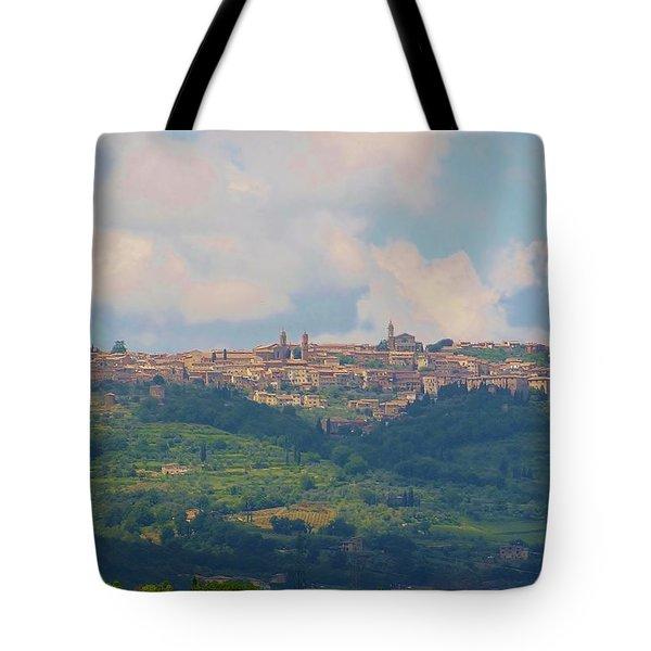 Montalcino Tote Bag by Marilyn Dunlap
