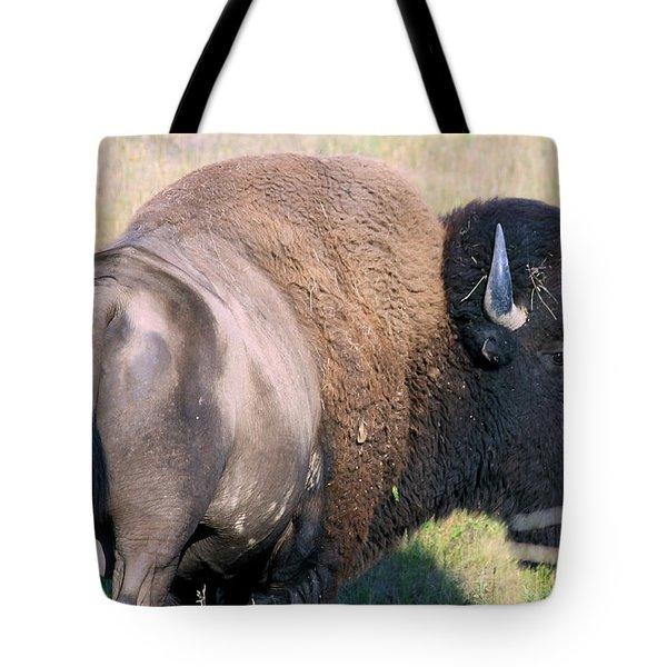 Tote Bag featuring the photograph Montana Buffalo Bison Bull by Karon Melillo DeVega