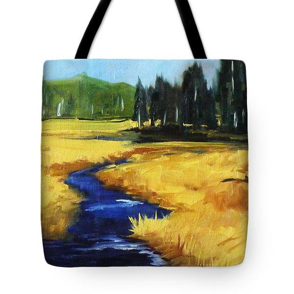 Montana Creek Tote Bag by Nancy Merkle