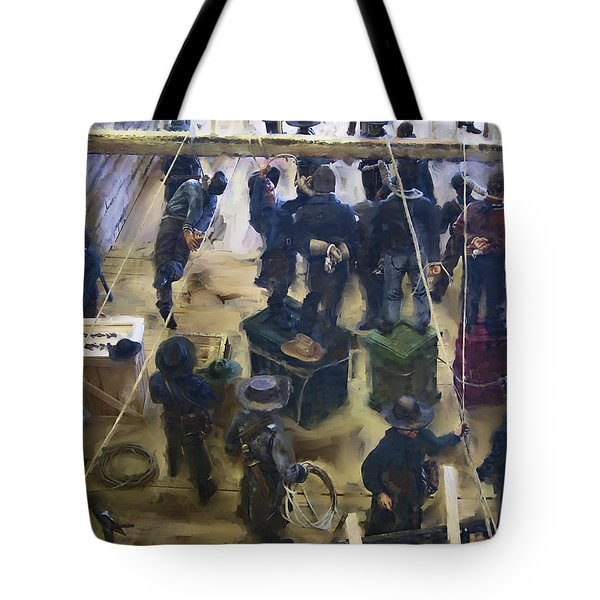 Montana Justice   January 14 1864 Tote Bag by Daniel Hagerman