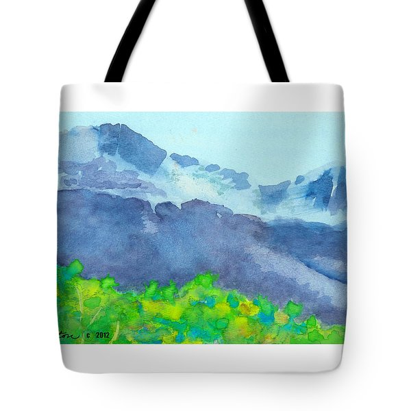 Montana Mountain Mist Tote Bag