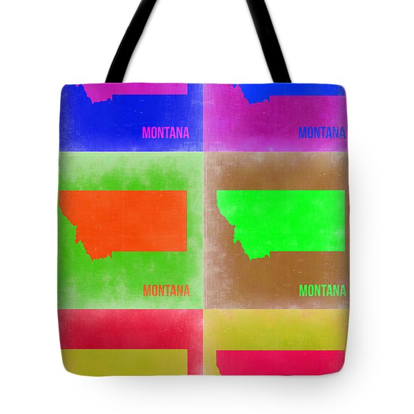 Montana Pop Art Map 2 Tote Bag by Naxart Studio