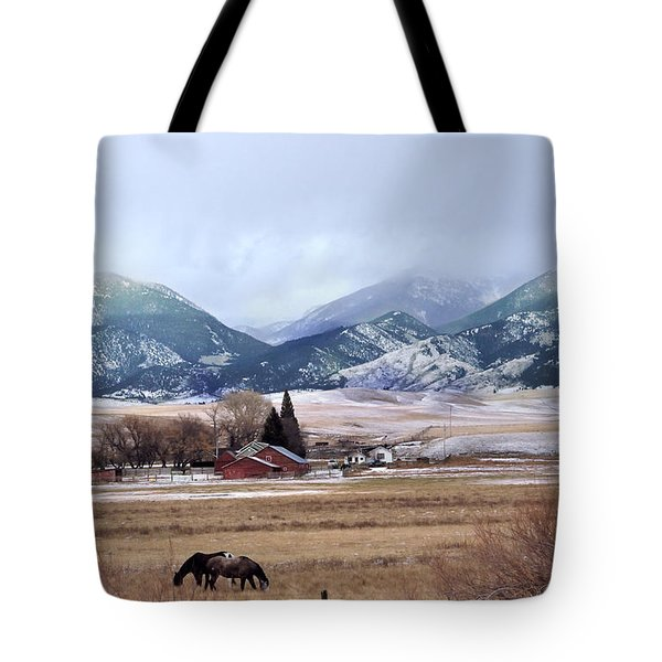 Montana Ranch - 1 Tote Bag by Kae Cheatham