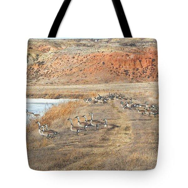 Tote Bag featuring the digital art Montana Spring Thaw by Aliceann Carlton
