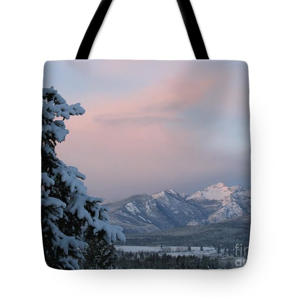 Montana Winter Tote Bag by Joseph J Stevens