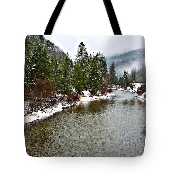 Montana Winter Tote Bag