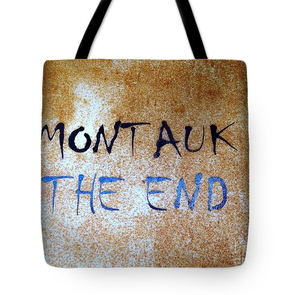 Tote Bag featuring the photograph Montauk-the End by Ed Weidman