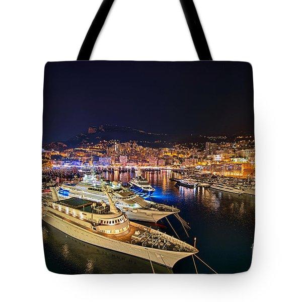 Monte Carlo Harbor Tote Bag by John Greim