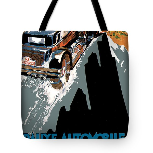 Monte Carlo - Vintage Poster Tote Bag by World Art Prints And Designs