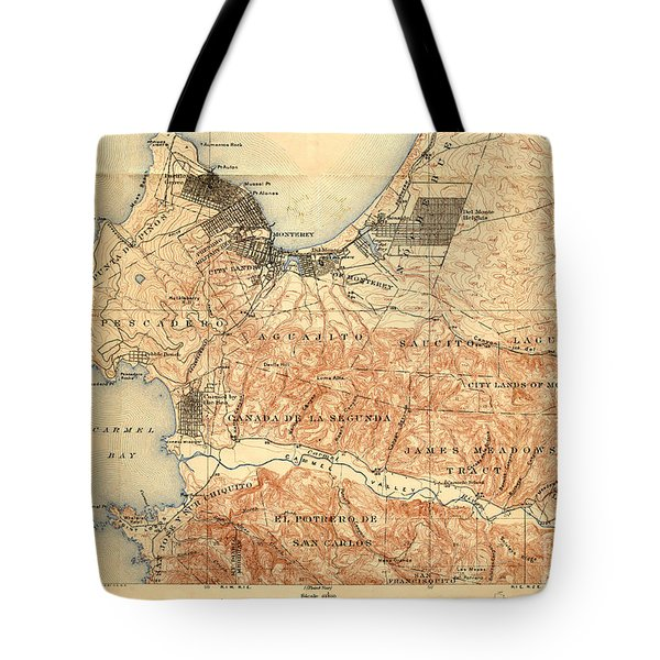 Monterey And Carmel Valley  Monterey Peninsula California  1912 Tote Bag