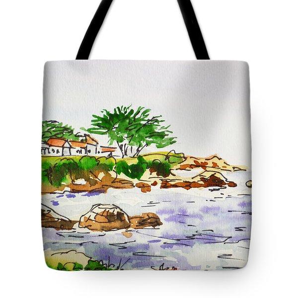 Monterey- California Sketchbook Project Tote Bag by Irina Sztukowski