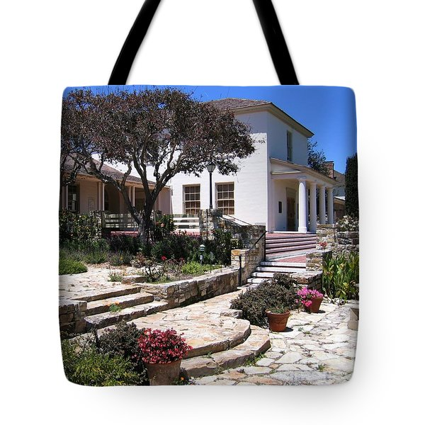 Tote Bag featuring the photograph Monterey City Hall by James B Toy