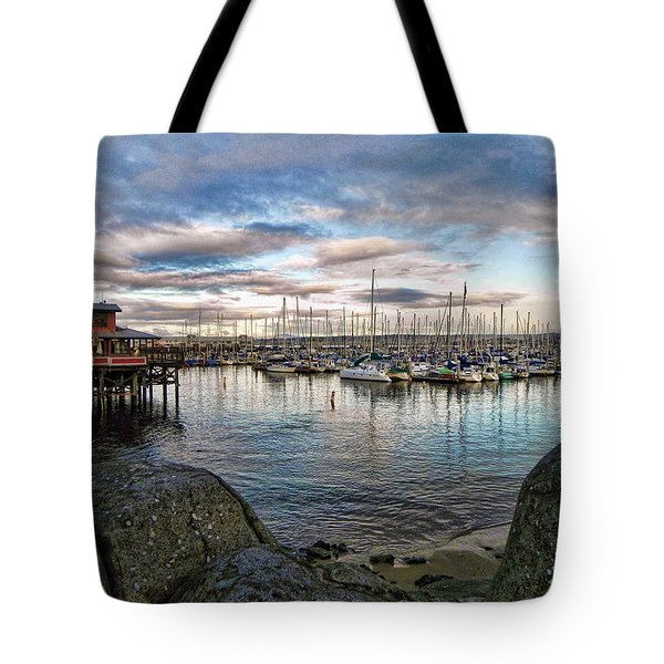 Monterey Marina California Tote Bag by Kathy Churchman