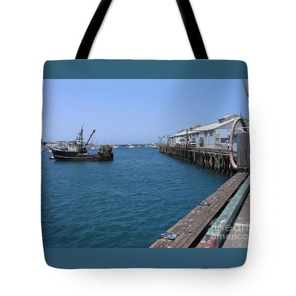 Tote Bag featuring the photograph Monterey Municipal Wharf by James B Toy