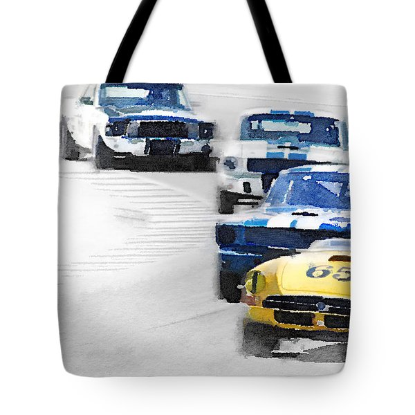 Monterey Racing Watercolor Tote Bag