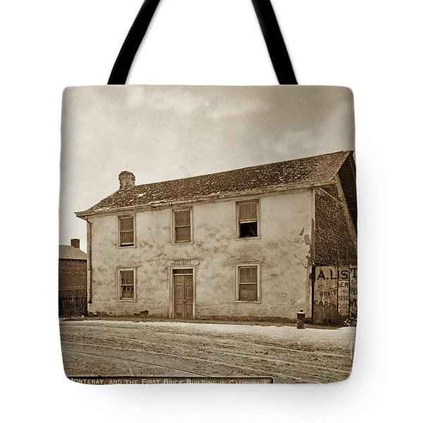 Monterey Whaling Station Circa 1895 Tote Bag by California Views Mr Pat Hathaway Archives