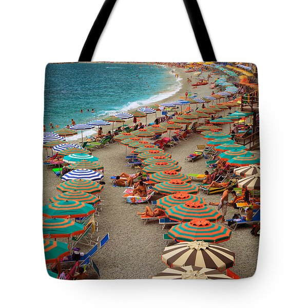 Monterosso Beach Tote Bag by Inge Johnsson