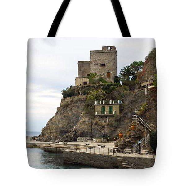 Monterosso Harbor Pier Tote Bag
