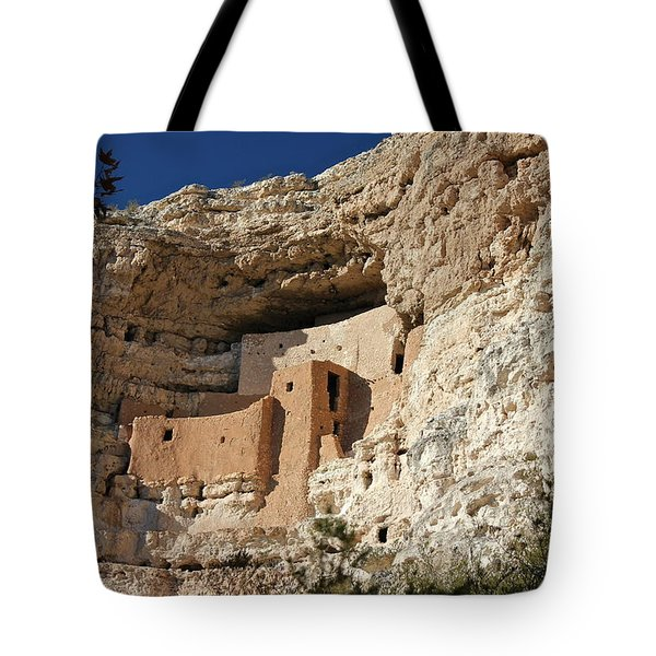 Tote Bag featuring the photograph Montezuma Castle by Penny Meyers