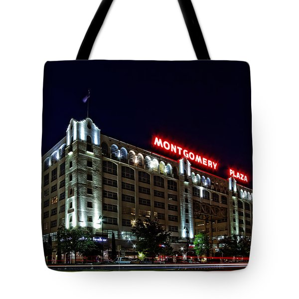 Montgomery Plaza Fort Worth Tote Bag by Jonathan Davison