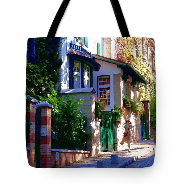 Tote Bag featuring the photograph Walk In Montmartre  by Jacqueline M Lewis