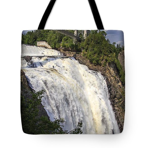 Montmorency Falls Park Quebec City Canada Tote Bag by Edward Fielding