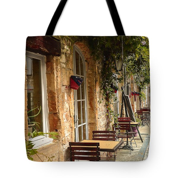 Tote Bag featuring the photograph French Cafe by Dany Lison