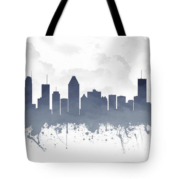 Montreal Quebec Skyline - Blue 03 Tote Bag