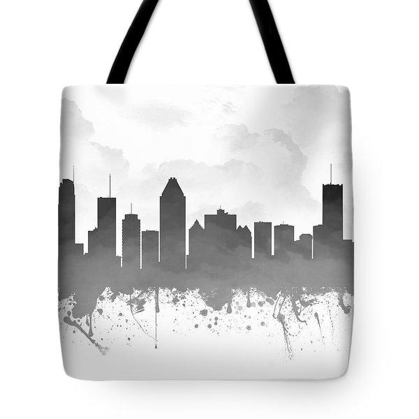 Montreal Quebec Skyline - Gray 03 Tote Bag