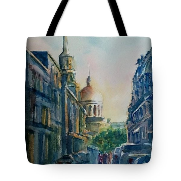 Montreal Skyline Tote Bag