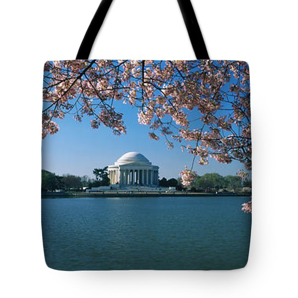 Monument At The Waterfront, Jefferson Tote Bag by Panoramic Images