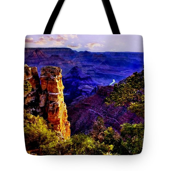 Monument To Grand Canyon  Tote Bag by Bob and Nadine Johnston