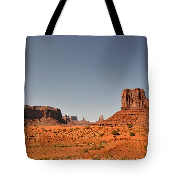 Monument Valley - Beauty Created By Nature Tote Bag by Christine Till