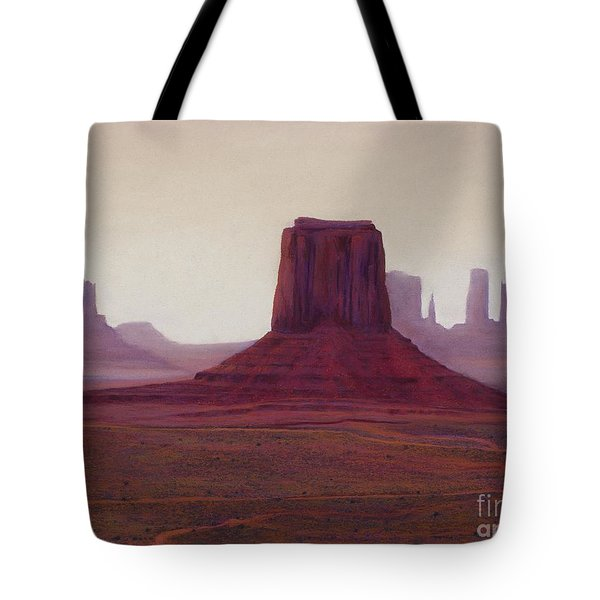 Monument Valley- Haze Tote Bag by Xenia Sease