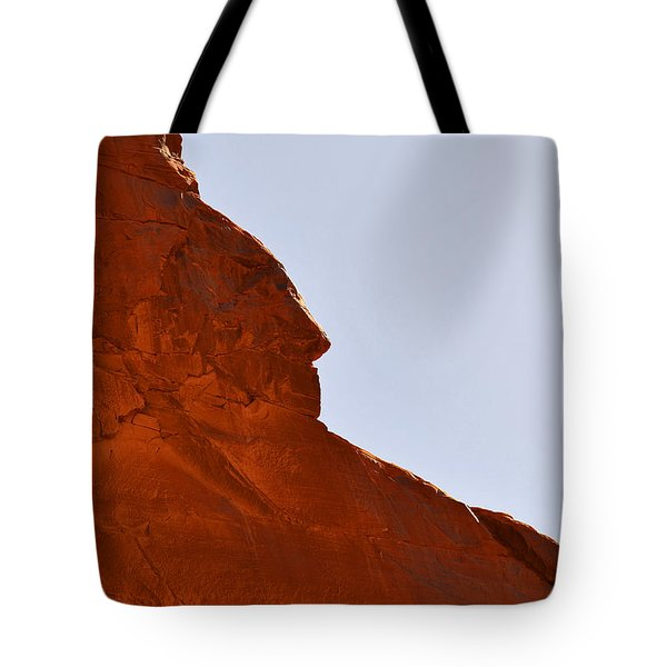 Monument Valley Indian Chief Tote Bag by Christine Till