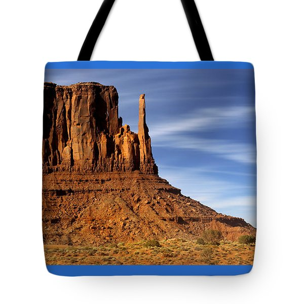 Monument Valley -  Left Mitten Tote Bag by Mike McGlothlen
