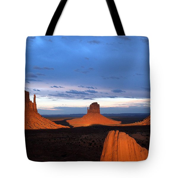 Monument Valley @ Sunset 2 Tote Bag by Jeff Brunton