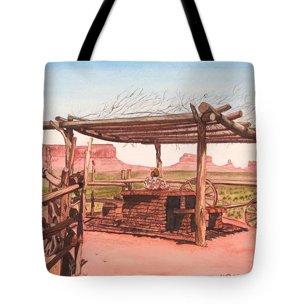 Monument Valley Overlook Tote Bag by Mike Robles