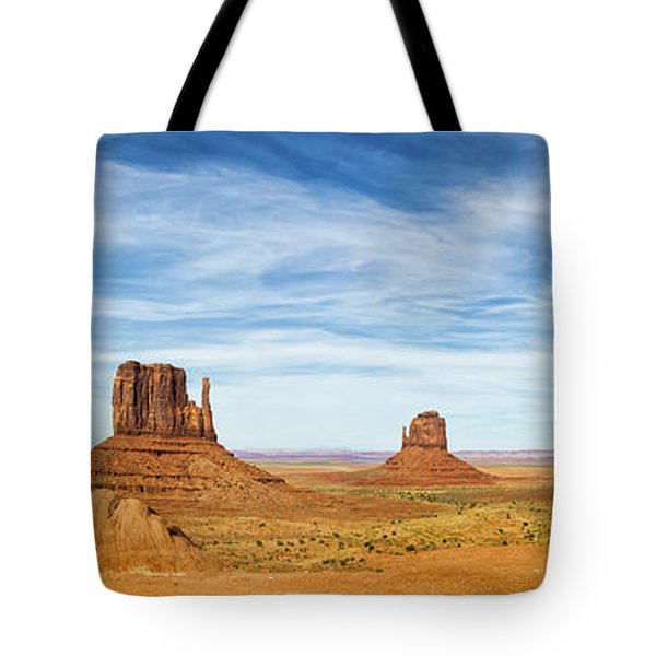 Monument Valley Panorama - Arizona Tote Bag